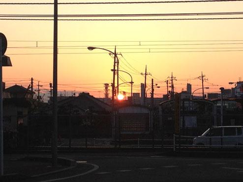 2011年最後の夕焼け