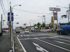 藤ヶ谷交差点(柏方面から)