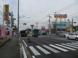 藤ヶ谷交差点(白井方面から)