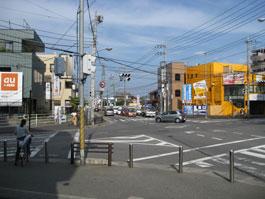 五香交差点(松戸・五香方面から)