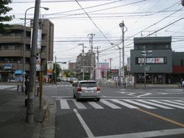五香交差点(元山・くぬぎ山方面から)