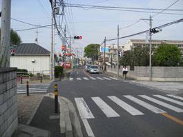リフレッシュプラザ柏入口(逆井・増尾方面から)