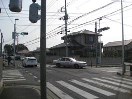 リフレッシュプラザ柏入口(青葉台・南増尾方面から)