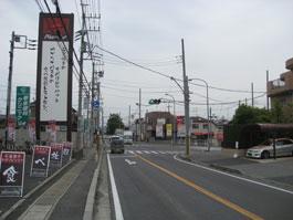 しいの木台入口交差点(六高台・六実方面から)