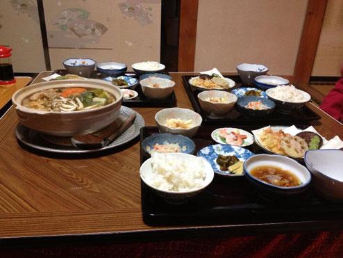 寺山鉱泉の美味しい食事