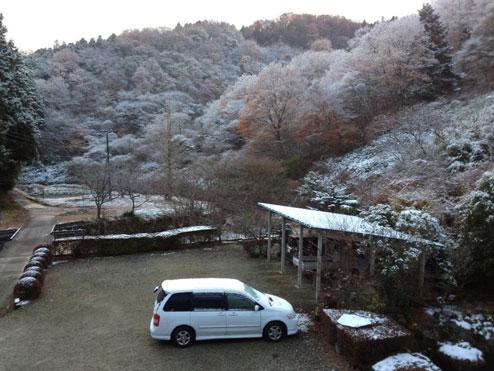 寺山鉱泉の雪化粧